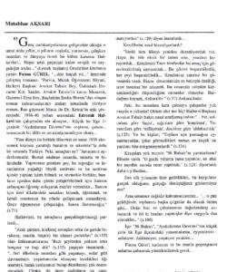 Anadolu Ekini Dergisi -M. Aksarı