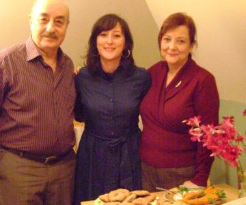Fatma Gürel, eşi ve kızı ile